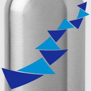Triangle pattern decoration T-Shirts - Water Bottle