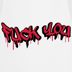 Fuck You Graffiti Design T-Shirts - Kochschürze
