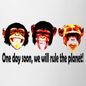 monkeys rule the world Tee shirts - Tasse