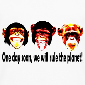monkeys rule the world Tee shirts - T-shirt manches longues Premium Homme