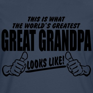 Worlds Greatest Great Grandpa Looks Like T-Shirts - Men's Premium Longsleeve Shirt