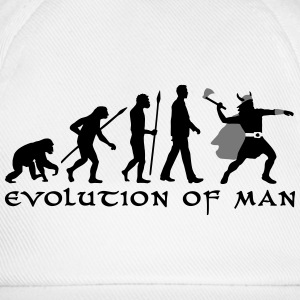 evolution_of_man_viking_a_2c Flaschen & Tassen - Baseballkappe