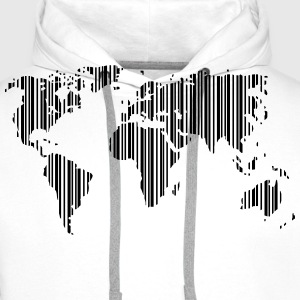 World as a barcode T-Shirts - Men's Premium Hoodie