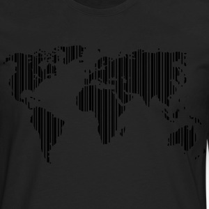 World as a barcode T-Shirts - Men's Premium Longsleeve Shirt