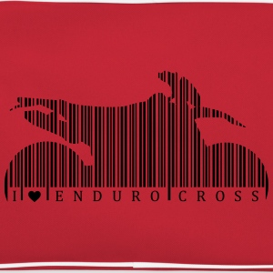 I Love Enduro Cross Barcode Magliette - Borsa retrò
