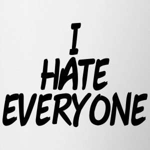 I hate everyone T-shirts - Kop/krus