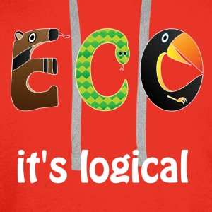 ECO it's logical Shirts - Men's Premium Hoodie