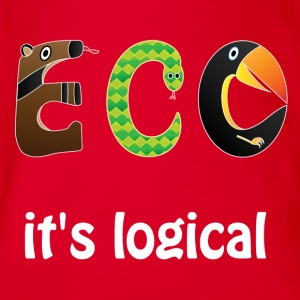 ECO it's logical Shirts - Organic Short-sleeved Baby Bodysuit