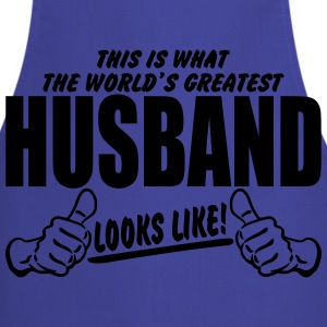Worlds Greatest Husband Looks Like T-Shirts - Cooking Apron