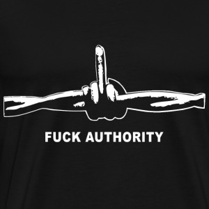 Fuck Authority (Barbwire) - Männer Premium T-Shirt