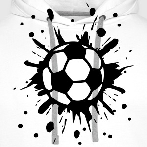 Football, Splash, Soccer, Splatter,  T-Shirts - Men's Premium Hoodie