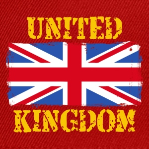 United Kingdom grunge flag Tee shirts - Casquette snapback
