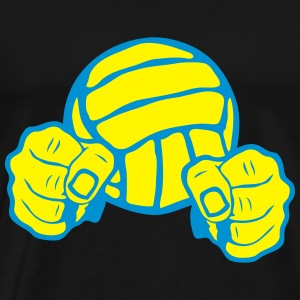 volleyball ballon poing fermer combatant Tee shirts - T-shirt Premium Homme