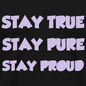 Stay True T-shirts - Herre premium T-shirt