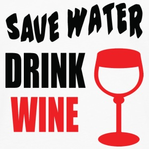 Save Water Drink Wine T-Shirts - Men's Premium Longsleeve Shirt