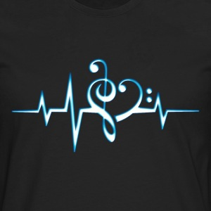 Music, pulse, notes, Trance, Techno, Electro, Goa Tee shirts - T-shirt manches longues Premium Homme