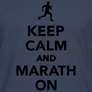 Keep calm and Marathon T-Shirts - Männer Premium Langarmshirt