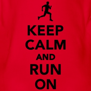 Keep calm and run Marathon T-Shirts - Baby Bio-Kurzarm-Body
