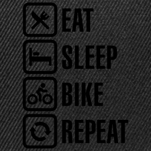 Eat sleep bike repeat Camisetas - Gorra Snapback