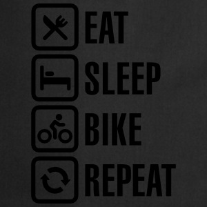 Eat sleep bike repeat Camisetas - Delantal de cocina