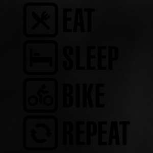 Eat sleep bike repeat Camisetas - Camiseta bebé