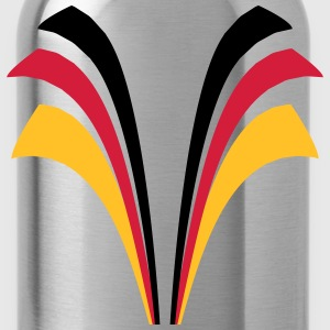 Strip lines flag of Germany T-Shirts - Water Bottle