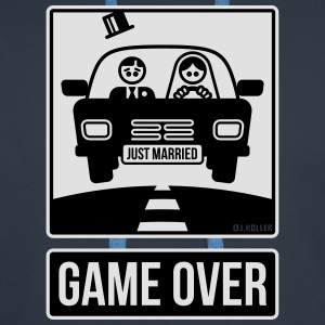 Just Married – Game Over (2C) T-Shirts - Men's Premium Hoodie