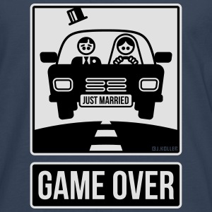 Just Married – Game Over (2C) T-Shirts - Men's Premium Longsleeve Shirt