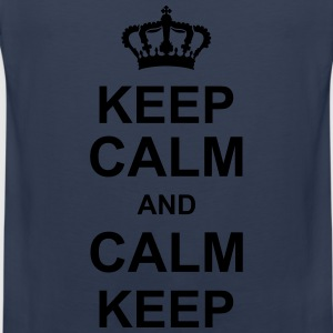 keep_calm_and_calm_keep_g1 T-Shirts - Männer Premium Tank Top