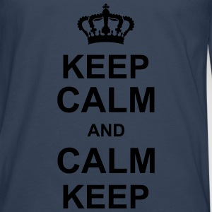 keep_calm_and_calm_keep_g1 Camisetas - Camiseta de manga larga premium hombre
