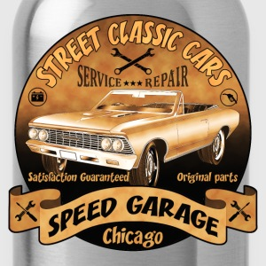 vintage us street car 02 T-Shirts - Trinkflasche