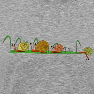 snails in the garden Topper - Premium T-skjorte for menn