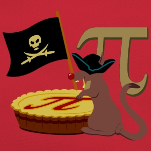 Pi rat / Pi Piratenratte (B, DDP) T-Shirts - Retro Tasche