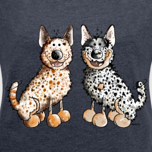 Two Australian Cattle Dogs  Hoodies & Sweatshirts - Women's T-shirt with rolled up sleeves