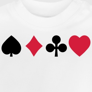 playing cards spelkort T-shirts - Baby-T-shirt