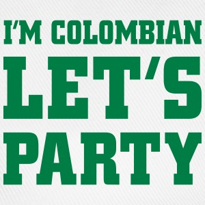 I'm Colombian Let's Party, cairaart.com T-Shirts - Baseballkappe
