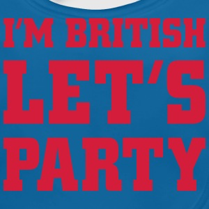I'm British Let's Party, cairaart.com Shirts - Baby Organic Bib