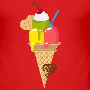 An ice cream cone Hoodies & Sweatshirts - Men's Slim Fit T-Shirt