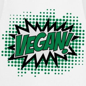 Vegan, Comic Book Style, Green, Explosion, 3c T-shirts - Forklæde
