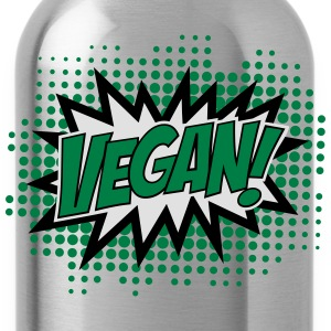 Vegan, Comic Book Style, Green, Explosion, 3c T-shirts - Drinkfles