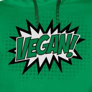 Vegan, Comic Book Style, Green, Explosion, 3c T-shirts - Mannen Premium hoodie