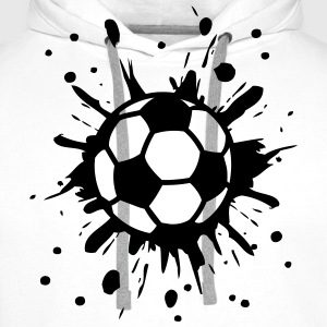 Football, Splash, Soccer, Splatter,  T-shirts - Mannen Premium hoodie