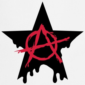 Anarchy star chaos symbol rebel revolution punk T-shirts - Förkläde