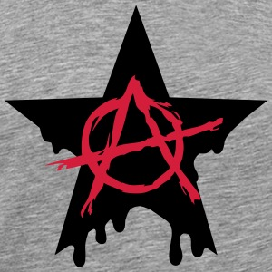Anarchy star chaos symbol rebel revolution punk T-shirts - Premium-T-shirt herr