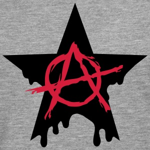 Anarchy star chaos symbol rebel revolution punk Tee shirts - T-shirt manches longues Premium Homme