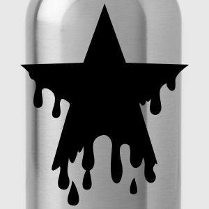 Star punk blood anarchy symbol revolution against T-Shirts - Water Bottle