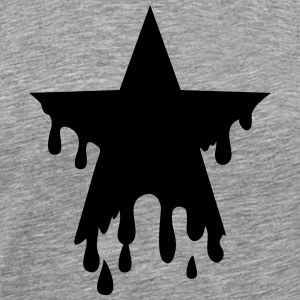 Star punk blood anarchy symbol revolution against T-shirts - Premium-T-shirt herr