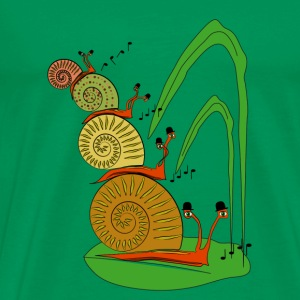 snails in the garden          Tassen & rugzakken - Mannen Premium T-shirt