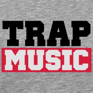 TRAP MUSIC - BASS PARTY Långärmade T-shirts - Premium-T-shirt herr