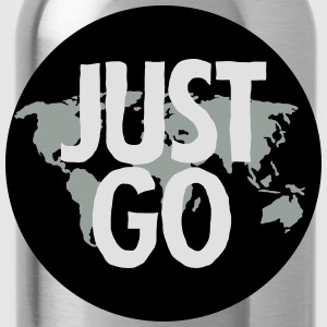 Just Go (World Map) T-Shirts - Trinkflasche